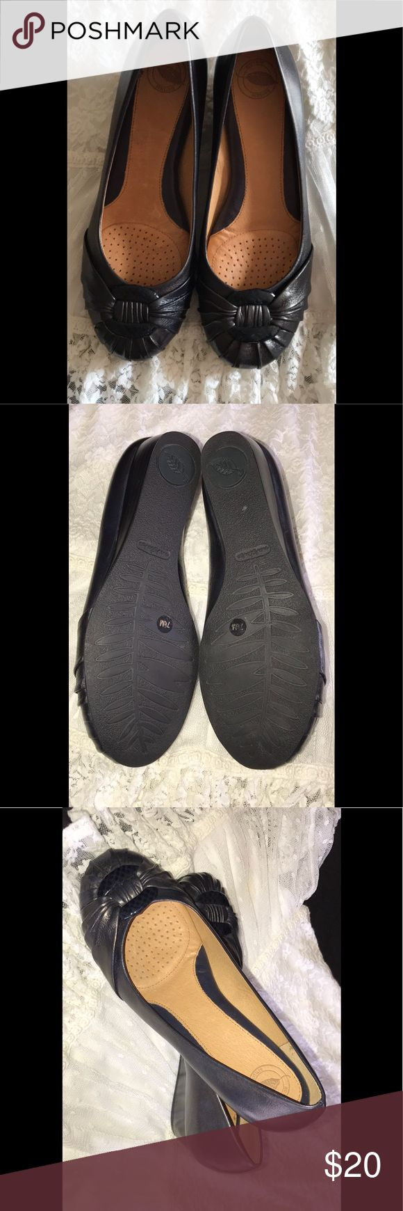"""🌸Nurture Serene Wedge Shoes-Women size 7 1/2 M🌸 These. Nurture Serene Shoes are a 7 1/2 M and Marine Navy in color, leather/manmade upper, 1 1/4"""" wedge heel, new without box🌸 Nurture Shoes Wedges"""