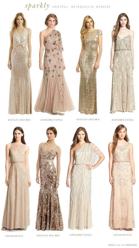209 best Neutral Bridesmaid Dresses images on Pinterest | Short ...