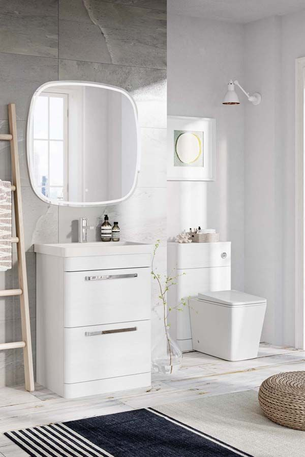 Esk White Vanity Unit White Bathroom Furniture White Vanity Unit Vanity Units