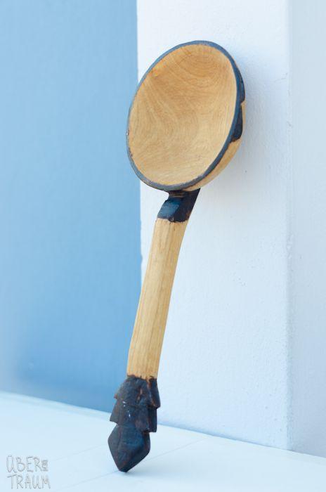 70's African Wooden Big Kitchen Spoon - Über den Traum
