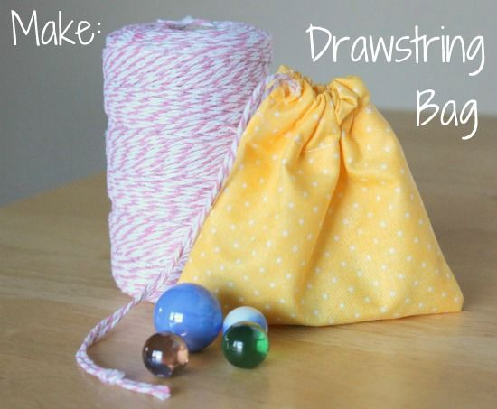 Beginner Sewing: Simple Marble Drawstring Bag (Aiden is always wanting to sew something!) This is totally what I made in class today!