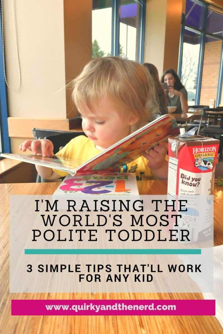 Everyone wants polite kids. Well my 2 year old is the most polite of all! Read my three, simple tips on how to have a polite toddler. quirkyandthenerd.com