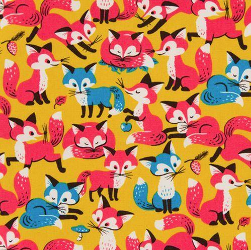Cosmo canvas foxes. Retro vosjes.