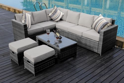 Outstanding Rattan Garden Furniture 5 Seater Sofa Set Table Chairs Patio Download Free Architecture Designs Parabritishbridgeorg