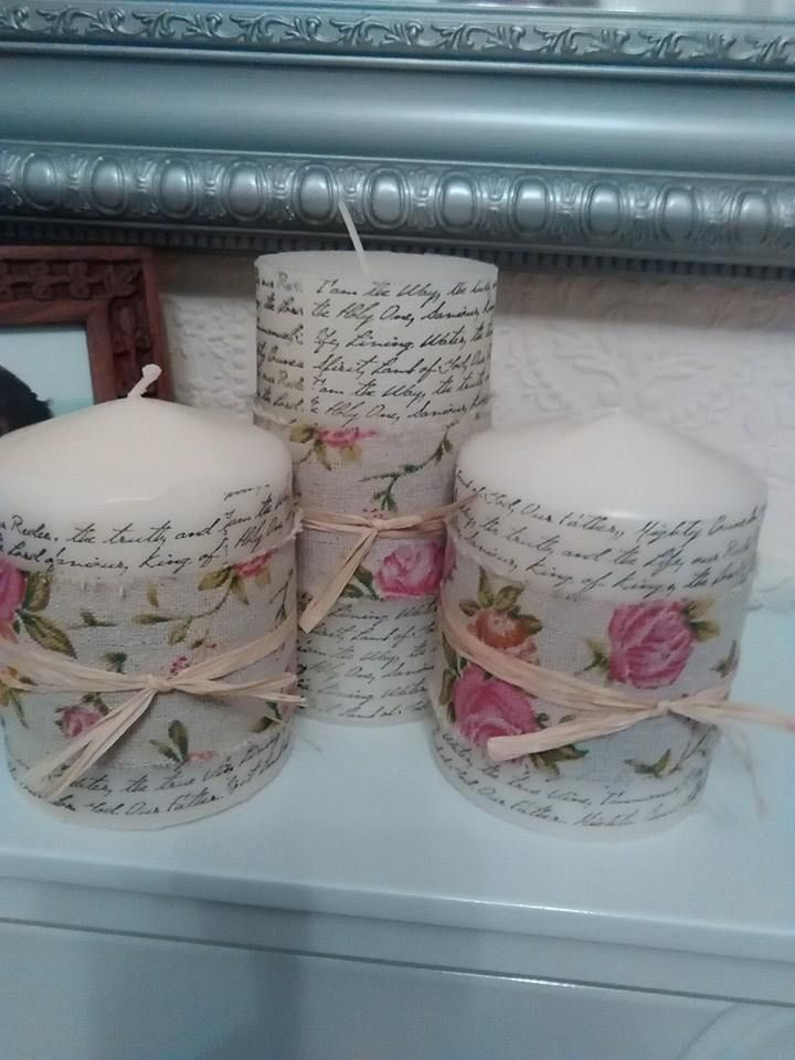 Printed Candles Love them