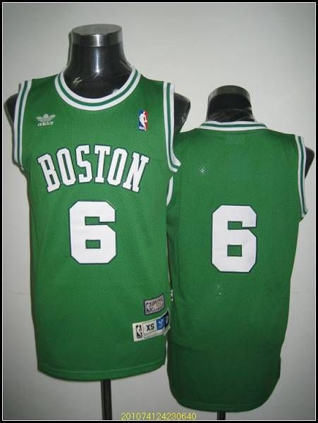 bf263d910 Celtics  6 Bill Russell Stitched Green Adidas Throwback NBA Jersey ...