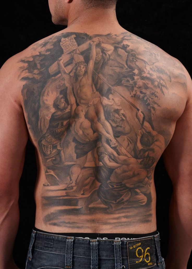 Tattoo by Les #religiousart #religion #christ #tattoos #