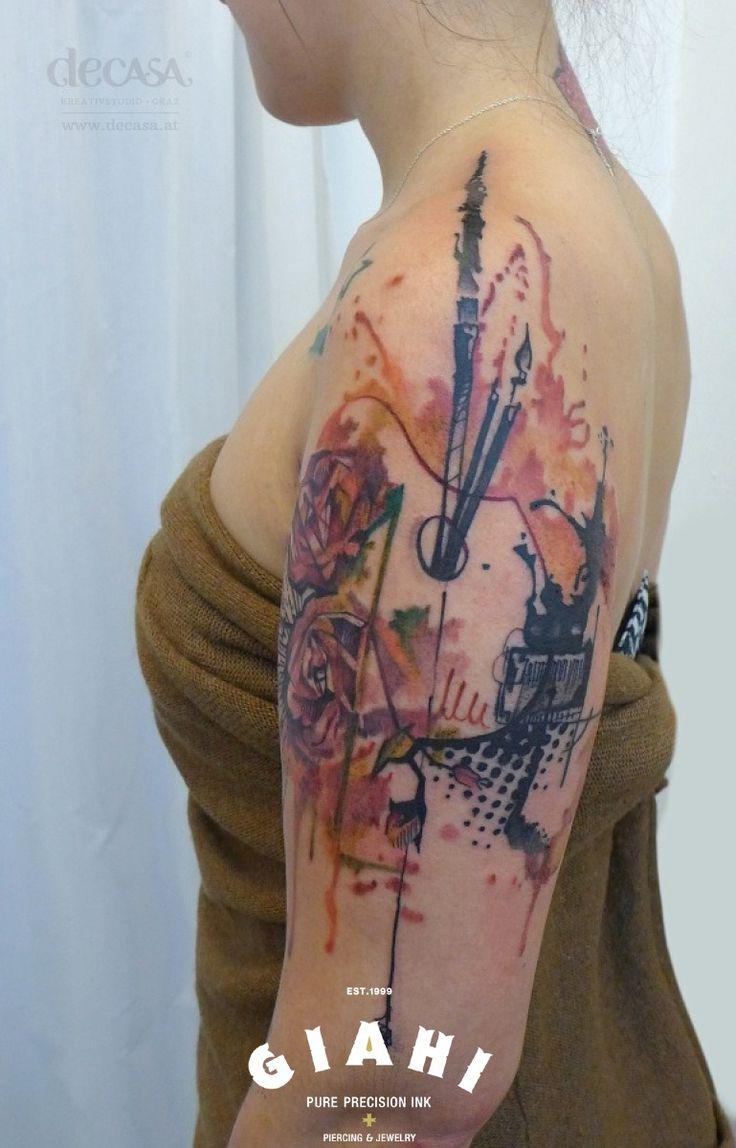 Rose Tattoo Trash Polka   Roses Palette Trash Polka tattoo by Carola Deutsch   best tattoo ideas