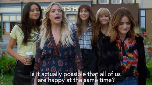"""S7 Ep20 """"'Til Death Do Us Part"""" - Our girls are happy. We're happy. #PLLFinale #PLLGameOver"""