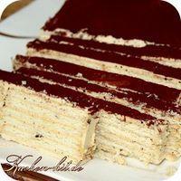 Rezept für einen Butterkekskuchen mit einer Kaffeecreme. Ein leckerer Creme Kuchen ohne Backen.