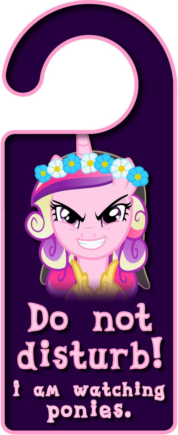 mlp doorhangers | Evil Princess Cadence Door Knob Hanger by ~Thorinair on deviantART