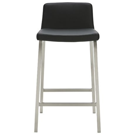 Signature Bar Stool Synthetic Leather Black