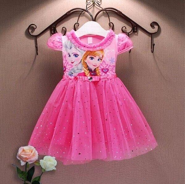 kiz elbise prenses anna elsa elbise kar