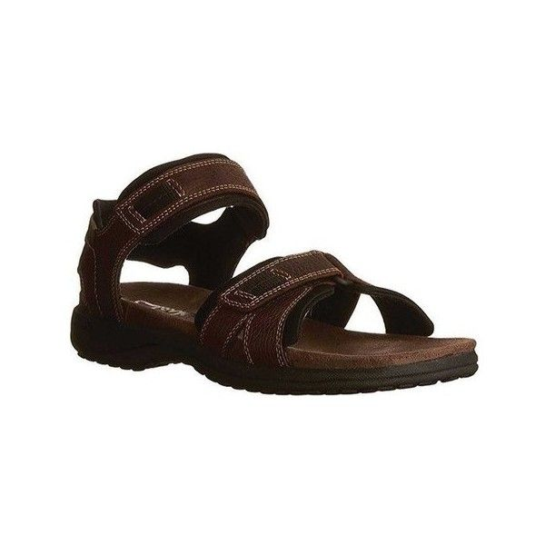 Men's Clarks Keating Sandal ($80) ❤ liked on Polyvore featuring men's fashion, men's shoes, men's sandals, brown, casual, mens velcro shoes, mens lightweight running shoes, clarks mens shoes, mens leather velcro shoes and mens leather sandals