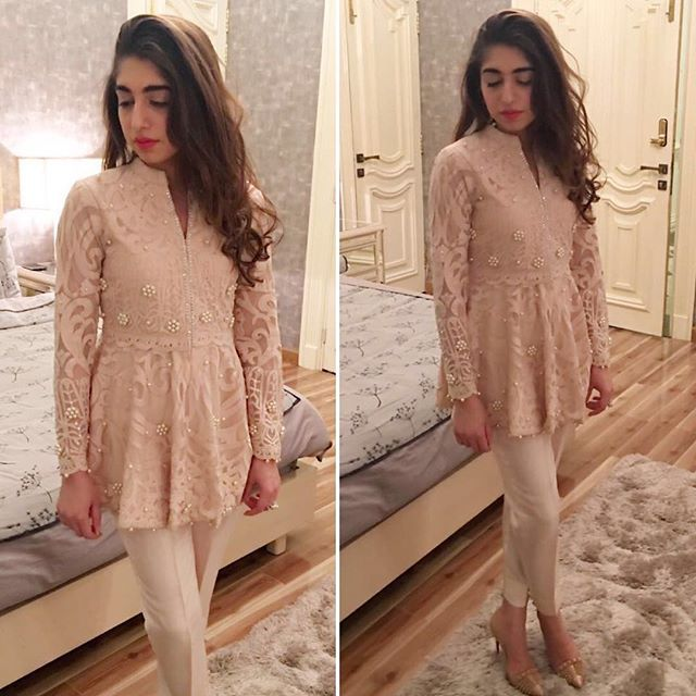 #AniqaWaqar looks super pretty in our much covered peplum top! ✨ #SehrishRehan #Spotted #Fashion #LuxuryPret #PretWear #Formals #Pakistan #Karachi #Lahore #Dubai