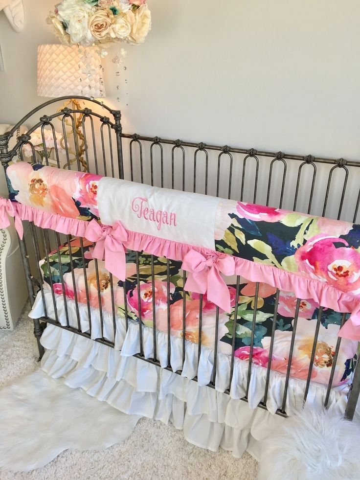 best 25 baby girl bedding ideas on pinterest baby girl bedding sets navy baby nurseries and. Black Bedroom Furniture Sets. Home Design Ideas
