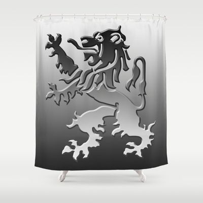 Lion heart Shower Curtain by Bruce Stanfield - $68.00
