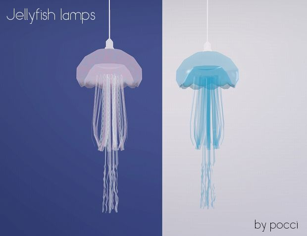 Jellyfish Ceiling Lamps By Pocci At Garden Breeze   Sims 3 Finds