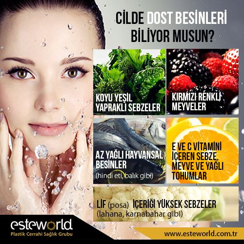 Cildine dost besinleri biliyor musun?  #esteworld #cilt #cildedostbesinler #sağlıklıbesinler #ciltbakimi #ciltbakımı #skin #skincare