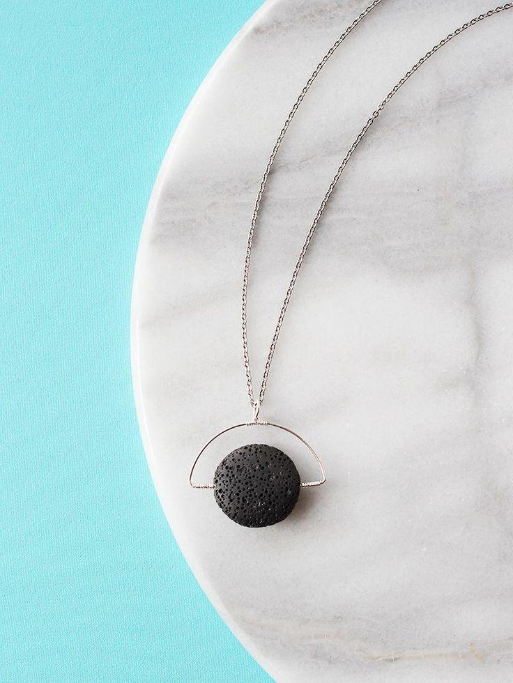 Handmade Jewelry: Lava Stone Necklace