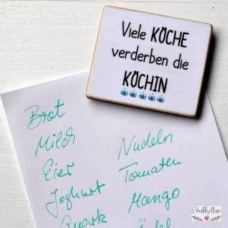 Shabbyflair Magnet mit Spruch:Viele Köche verderben die Köchin