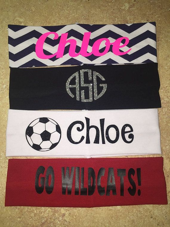 Personalized Stretchy Headband- Sports headband, soccer headband, personalized headband, team head band, cute headband, cotton soccer bands