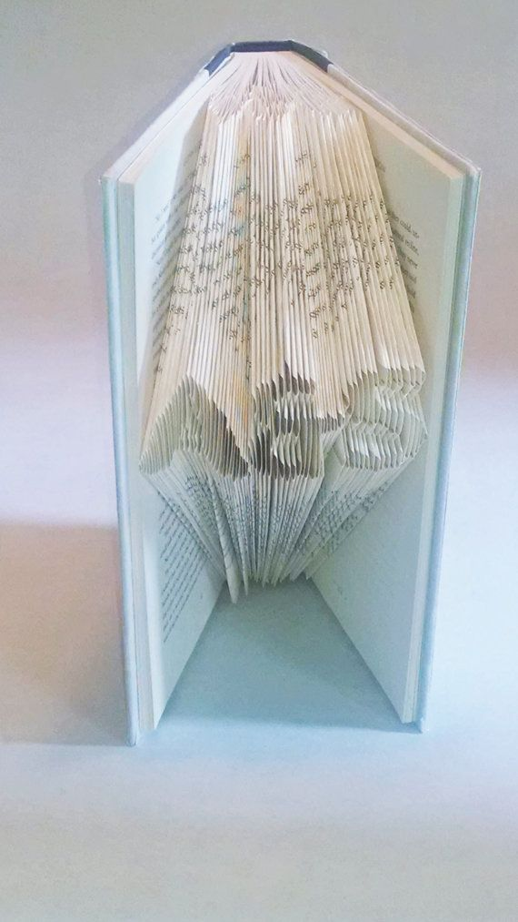 Folded book art-wedding present-gift for by FancyMadeFits on Etsy
