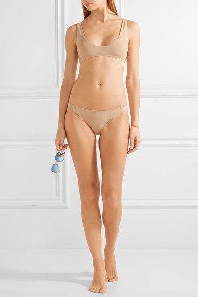 Rochelle Sara - Laeti Stretch-jersey Bikini Top - Neutral - 3
