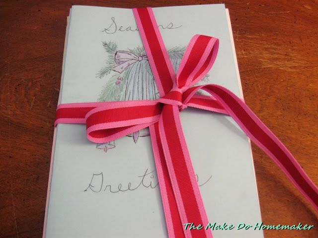 "The ""Make Do"" Homemaker:  When Life Gives You Lemons...: Christmas 2016 GIft Two:  Home Made Christmas Card..."