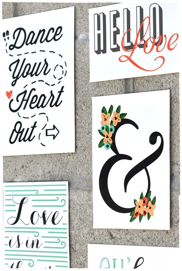 Free Download : Wall Art Collage | Ampersand & Illustrations | Smitten On Paper