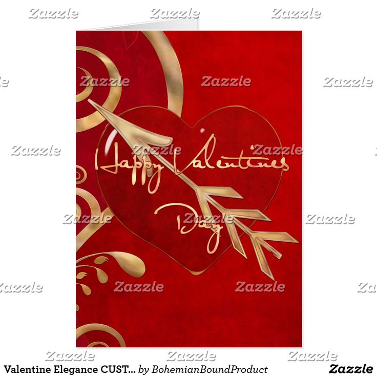 Valentine Elegance CUSTOM MESSAGE WIFE GIRLFRIEND Card