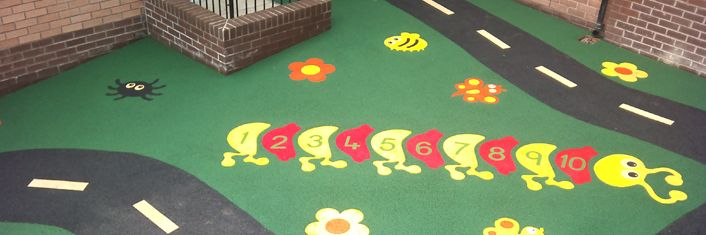 Resin Bound Wet Pour Graphics | Wetpour Rubber Crumb Inserts : Resin Bound Surfacing Suds