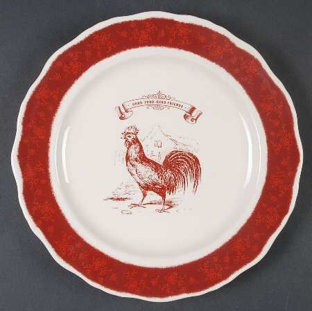 Superior Country Living Dishes   COUNTRY LIVING RED FRIENDS At Replacements, Ltd