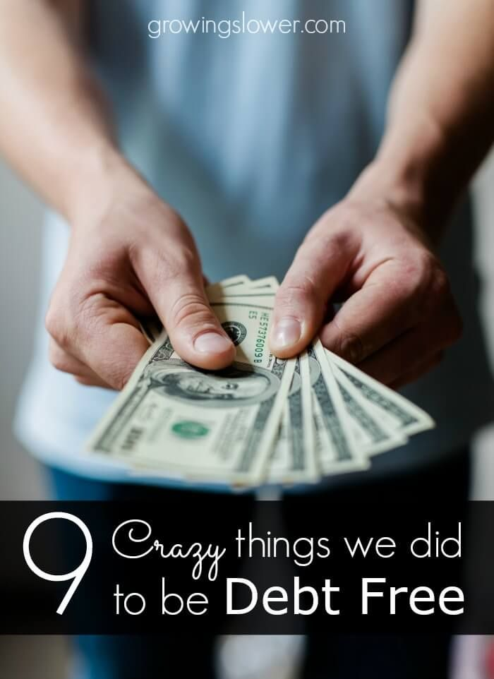 Wondering How to Be Debt Free? Try these 9 crazy ways to save money and get out of debt fast. This is how we paid off $22k in less than 9 months. It works!