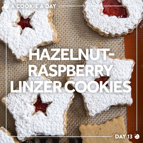 In this classic Austrian treat, hazelnut cookies are sandwiched around raspberry jam and dusted with confectioner's sugar.