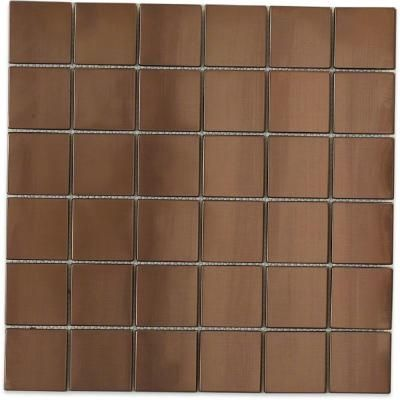 splashback tile metal rouge square 12 in x 12 in x 8 mm stainless - Metal Tile Home 2015