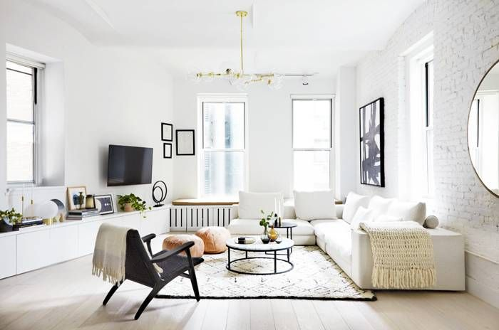 The Best Color To Make Everything In Your Home Look More Expensive Living Room Scandinavian Modern Minimalist Living Room Living Room Design Inspiration Minimalist living room accessories concept