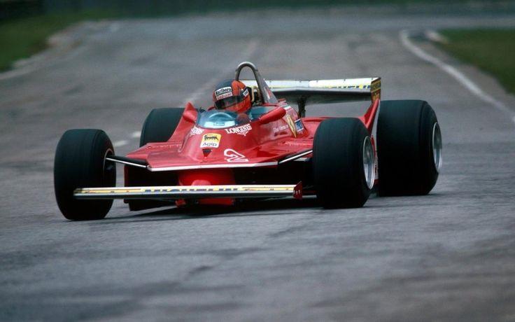 Gilles Villeneuve su Ferrari 312T5 GP Brasile Interlagos 1980