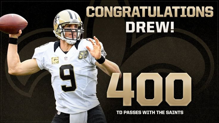 Brees joins the company of Peyton Manning, Brett Favre, Tom Brady and Dan Marino passing for 400 touchdowns with a single team  #SaintsGameday   #WASvsNO WHODAT!