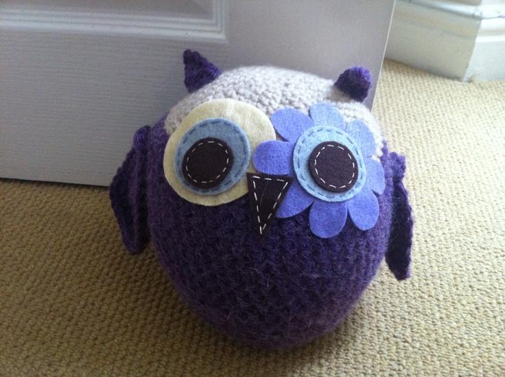 Handmade Owl Doorstop by NatsNikNaks