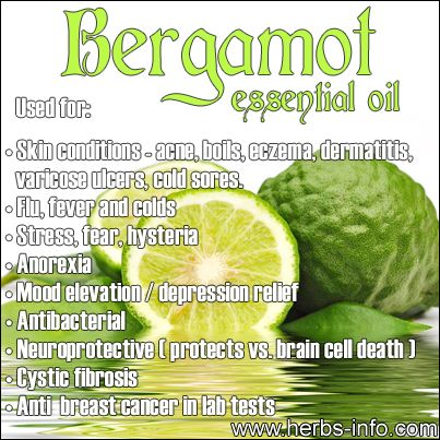 ❤ Essential Oil Of The Day: Bergamot ❤