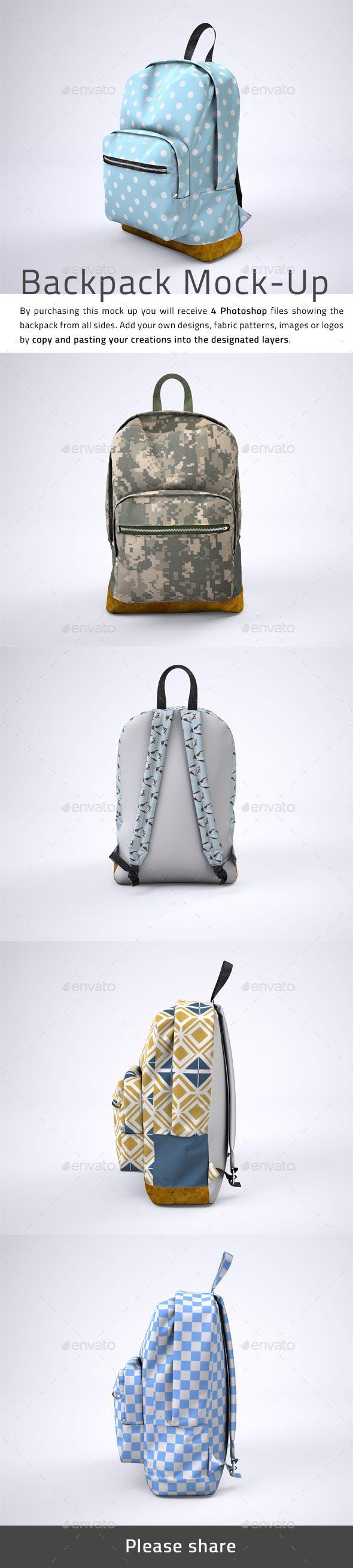#Backpack Rucksack #Mock-Up - #Miscellaneous Product Mock-Ups