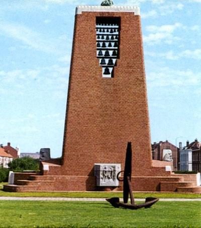 Nationaal monument die in Den Helder staat. (1950 ca)