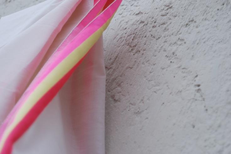 cotton silk stole with satin borders