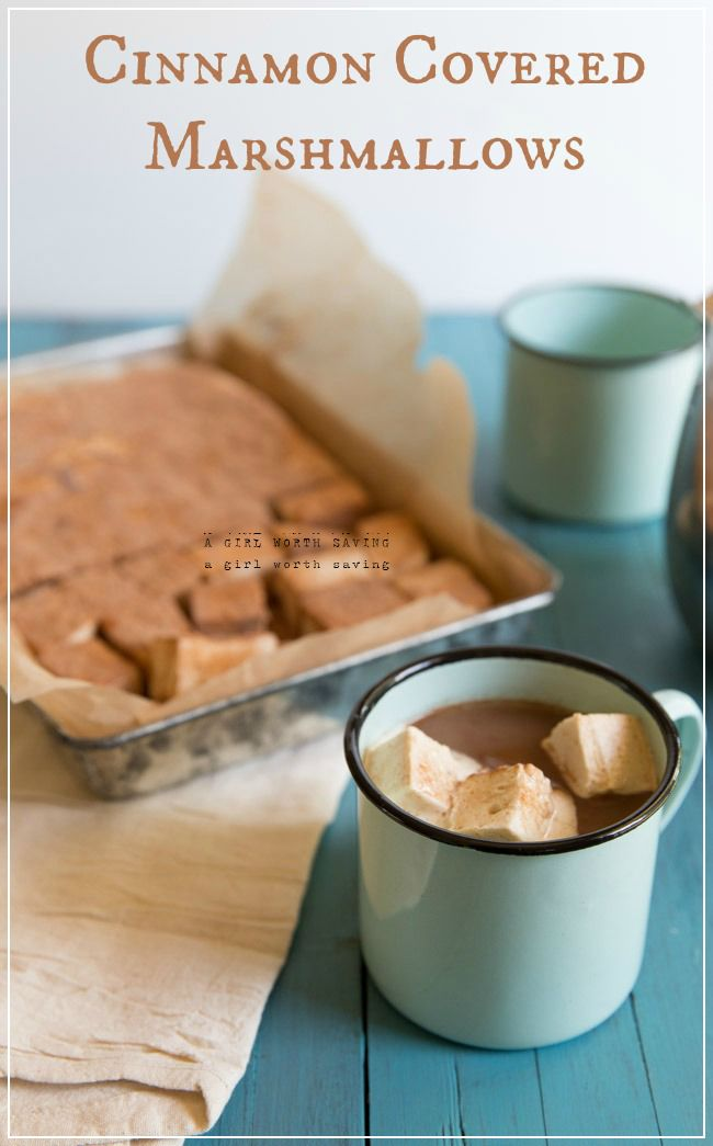 Paleo Cinnamon Covered Marshmallows from The Gelatin Secret || AGirlWorthSaving.com
