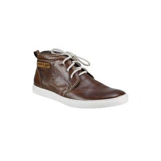 Pánske kožené topánky hnedé PT013 - manozo.hu
