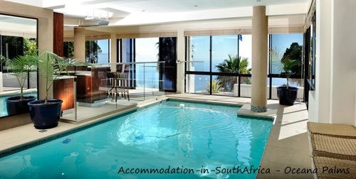 Indoor heating swimming pool at Oceana Palms. http://www.accommodation-in-southafrica.co.za/WesternCape/CapeTown/OceanaPalms.aspx