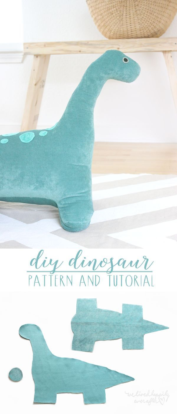 DIY Dino Pattern & Tutorial with a free pattern template to download!