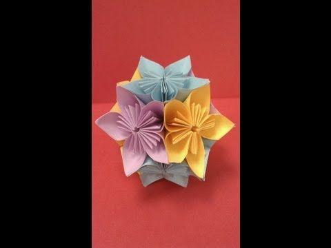 How to Fold Beautiful Kusudama Paper Flower Balls -