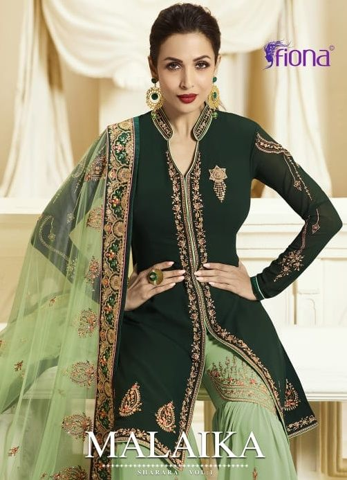 baca2bc0d65 Fiona Malaika Sharara Heavy Party Wear Designer Georgette with Heavy  Embroidery Work Wedding Salwar Kameez Collection at Wholesale Rate
